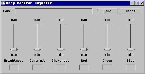 Onny Monitor Adjuster full screenshot